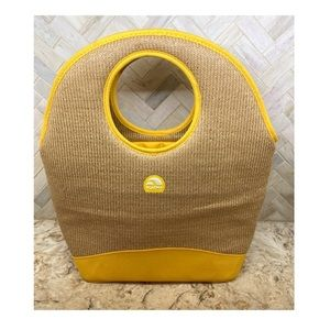 Igloo straw yellow insulated lunch tote